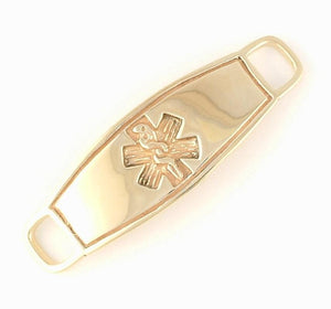 Yellow Gold Contempo Medical ID Tag - n-styleid.com