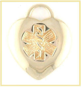 14k Gold Medical Charm  (white or yellow gold)