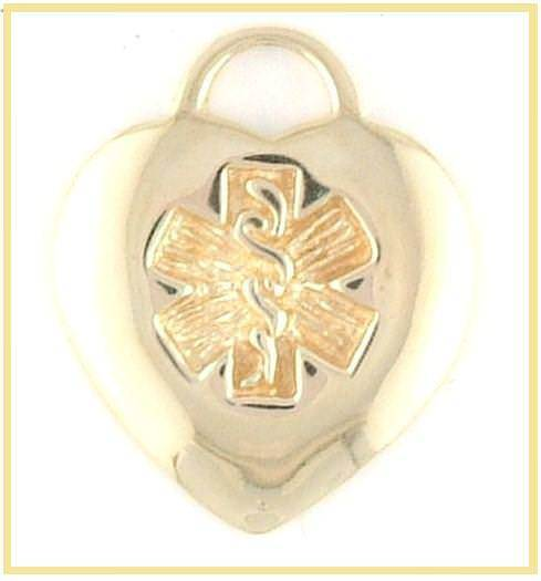 14k Gold Medical Charm  (white or yellow gold) - n-styleid.com