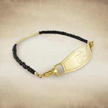 Aerial Gold Beaded Medical Bracelet - n-styleid.com