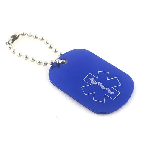 Blue Medical Alert Keychain - n-styleid.com
