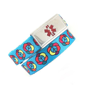 Flower Power Medical Alert Bracelet - n-styleid.com
