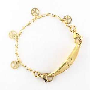 Gold Peace Medical Alert Bracelets