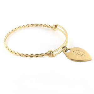 Braided Gold Medical Charm Bracelet - n-styleid.com
