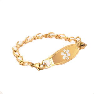 Golden Pearls Medical Alert ID Bracelet