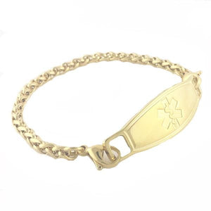 Golden Wheat Plated Gold Medical Bracelets - n-styleid.com