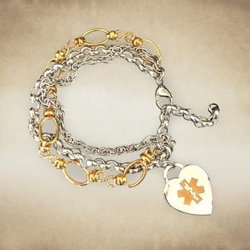 Intermingle Medical Charm  Bracelet - n-styleid.com