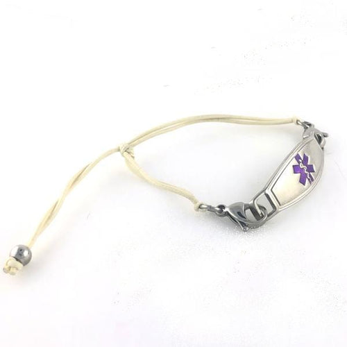 Simplicity Nude Adjustable Medical ID Bracelet - n-styleid.com