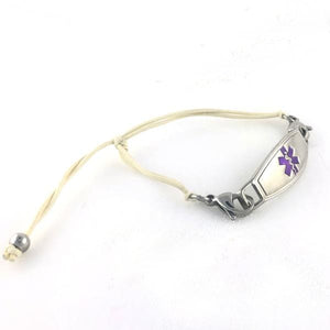 Simplicity Nude Adjustable Medical ID Bracelet