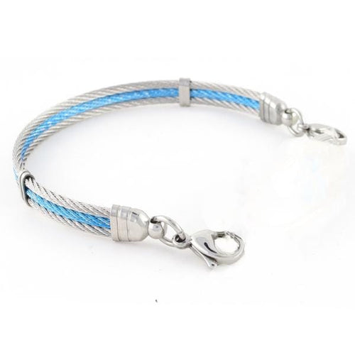 Ocean Interchangeable Cable Bracelet with lobster clasps