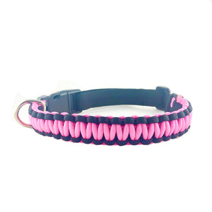 Paracord Glow In The Dark Pink Dog Collar & Leash