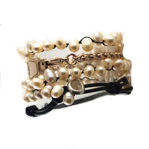Sea of Pearls 2 in 1 Beaded Medical Bracelet