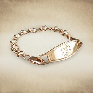 Pearl Rose Gold Medical Alert Bracelet - n-styleid.com