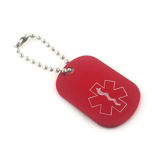 Red Medical Alert Keychain - n-styleid.com