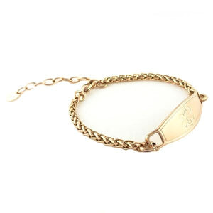 Rose Gold Adjustable Medical Bracelet - n-styleid.com