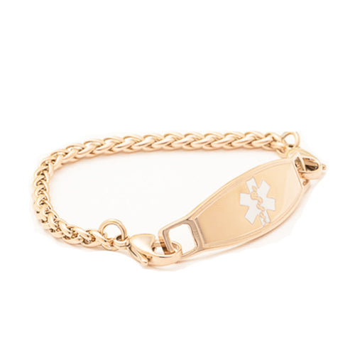 Rose Gold Medical Alert ID Bracelet