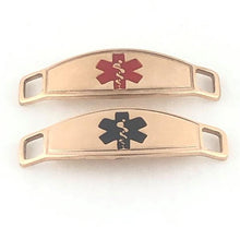 Texas Rose Beaded Medical ID Bracelet - n-styleid.com