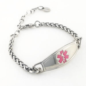 Stainless Steel Adjustable Medical Bracelet - n-styleid.com