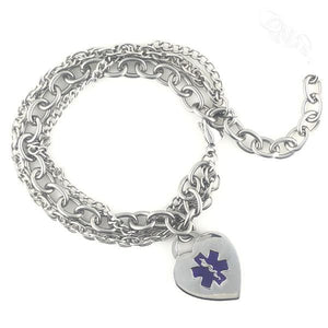 Triple Trend Medical Charm Bracelet - n-styleid.com