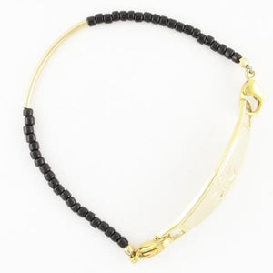 Aerial Gold Beaded Medical Bracelet