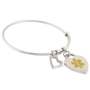 A & A Bangle Medical Charm Bracelet - n-styleid.com