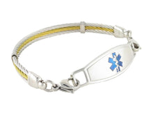 Golden Gate Cable Bracelet with Contempo ID Tag - n-styleid.com