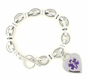 Antiqued Medical Charm Bracelet