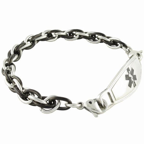 Apollo Chain Medical Alert Bracelet w/Contempo ID