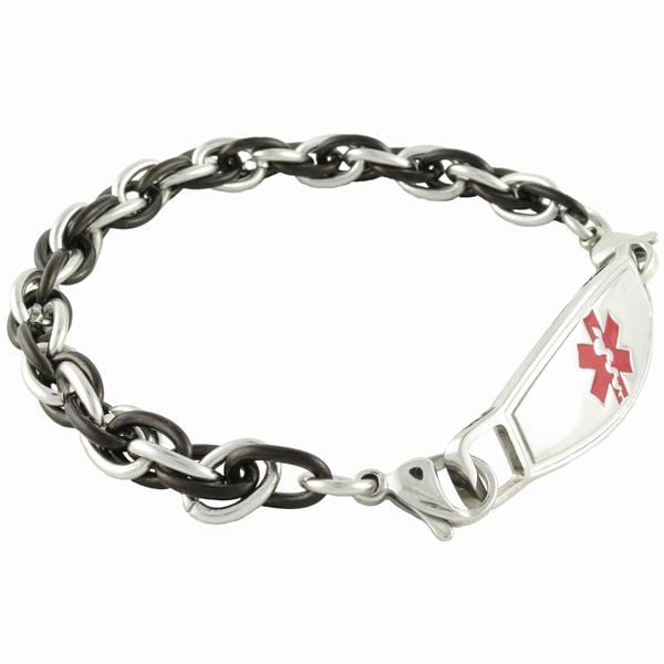 Medical Alert Bracelets >> Apollo Chain Medical Alert Bracelet W Contempo Id