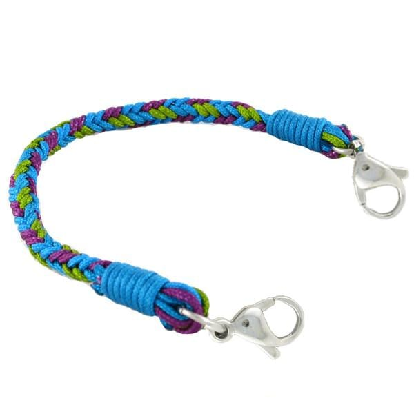 AQUA BRAIDED MEDICAL ID BRACELETS Without ID - n-styleid.com