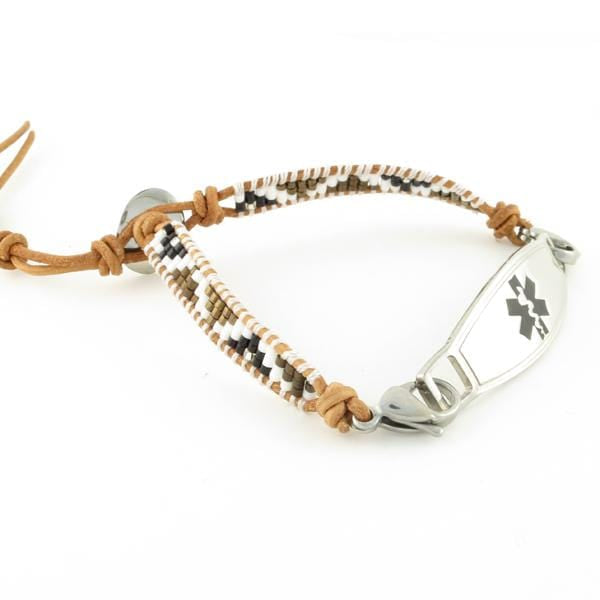 Autumn Adjustable Beaded Medical Bracelet - n-styleid.com