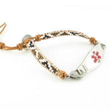 Autumn Adjustable Beaded Medical Bracelet