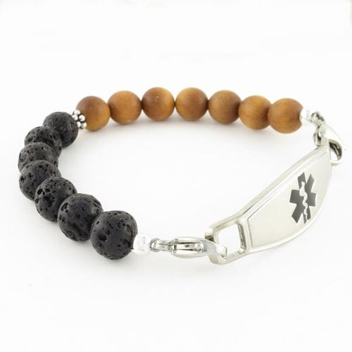 Balance Beaded Medical ID Bracelet - n-styleid.com