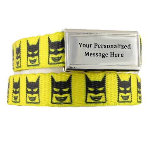 Bat-Kid ID Bracelets for Kids