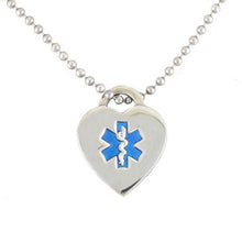 Blue Heart Medical Necklace - n-styleid.com