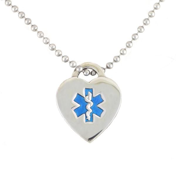 Blue Heart Medical Necklace