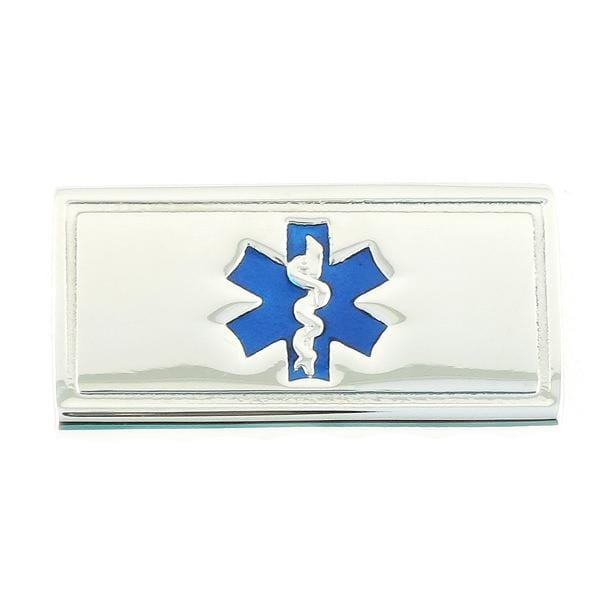 Blue Slider Medical ID Tags - n-styleid.com