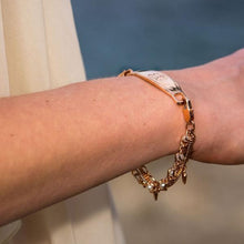 Blush Rose Gold Medical ID Bracelet - n-styleid.com