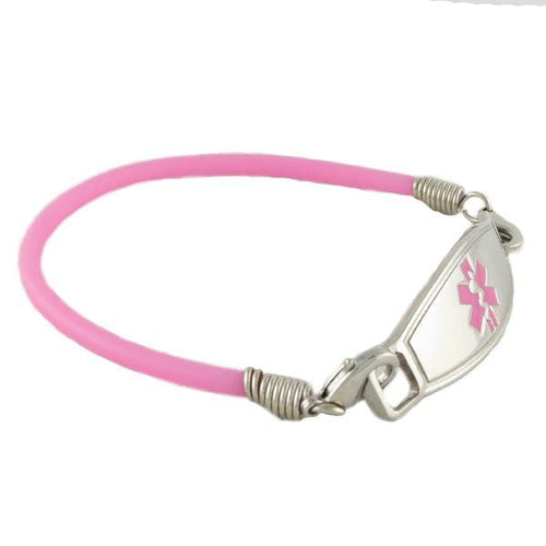 Bubble Gum Rubber Medical ID Bracelets