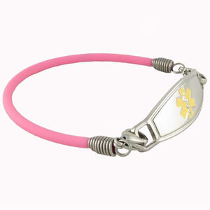 Bubble Gum Rubber Medical ID Bracelets - n-styleid.com