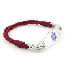 Cabernet Braided Medical ID Bracelet - n-styleid.com