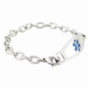 Cable Link Medical ID Bracelet w/Contempo ID