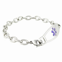 Cable Link Medical ID Bracelet w/Contempo ID - n-styleid.com