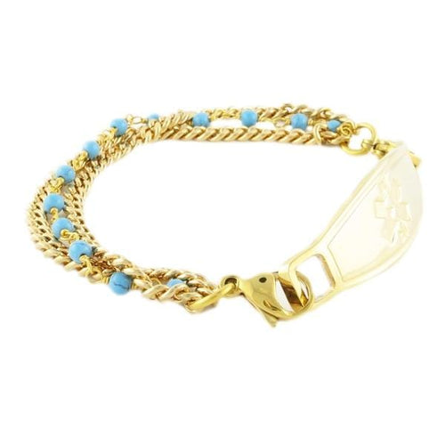 Cleopatra Gold Chain Medical Bracelet