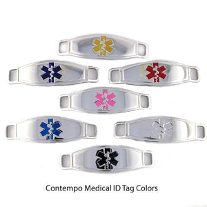 Hipster Medical ID Bracelets w/Contempo ID *