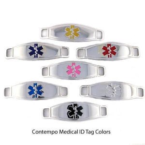 Pegasus Chain Medical Alert Bracelets w/Contempo ID
