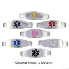 Athena Crystal Stretch Medical Alert Bracelet