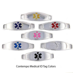 Stainless Steel Stretch Medical Bracelet - n-styleid.com