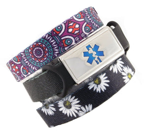 Daisy & Medallion Value Pack Medical Bracelets - n-styleid.com