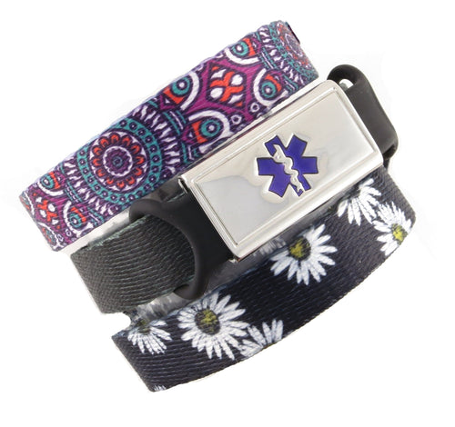 Daisy & Medallion Value Pack Medical Bracelets